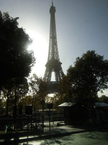 The Eiffel Tower at mid-day