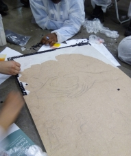 Lambeth Young Carers Art Class - Mosaic - Laura Spoonie