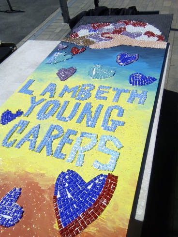 Young Carers Mosaic- worked on by the children + some staff memebers