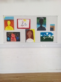 Painting by some of the young carers; done during April half-term in arts & crafts session