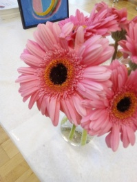 Beutiful pink flowers for table decoration