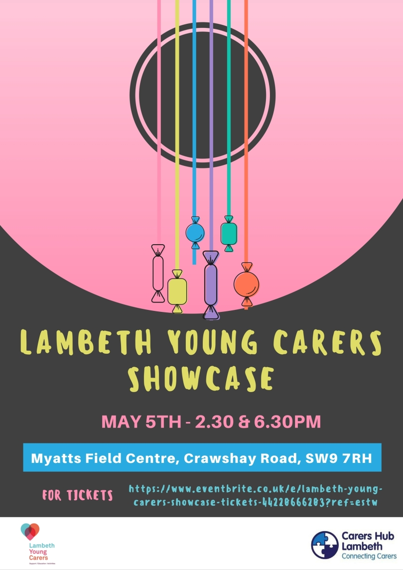 Lambeth Young Carers Showcase Flyer (Edited) - Laura Spoonie