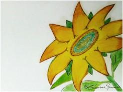 Sunflower Drawing 2017 - Laura Spoonie