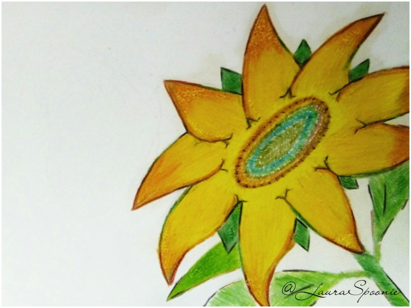 Sunflower Drawing 2017 - Laura Spoonie