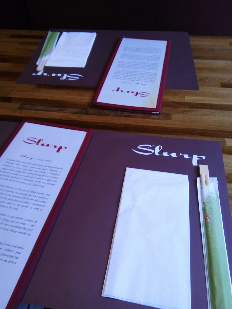 Slurp restaurant menu - Laura Spoonie