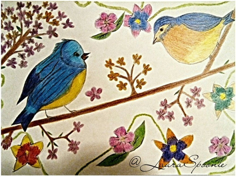 Pretty Birds 2017 Drawing by Laura Spoonie