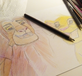 The Lion King Drawing - Simba ( REFLECTION) - Laura Spoonie