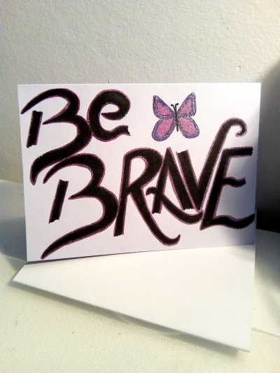 be brave butterfly design - pmu card 1