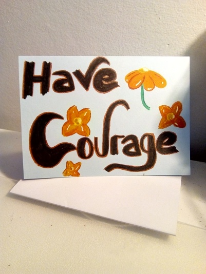 have courage flower design - pmu card 1