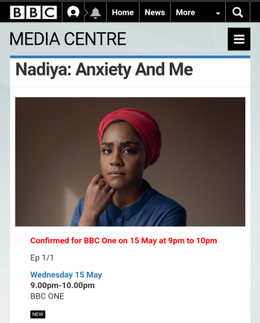 Nadiya - Anxiety & Me (BBC)