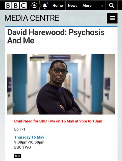 David Harewood - Psychosis & Me (BBC)