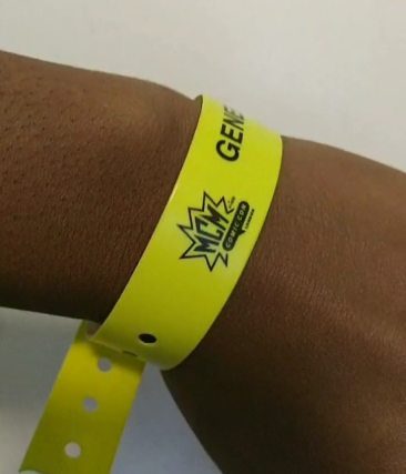 Comic-Con wristband - Laura Spoonie