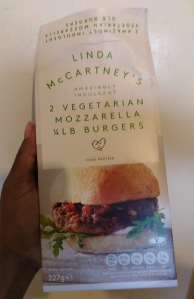 Linda McCartney's Vegetarian Mozzarella Burger - Laura Spoonie