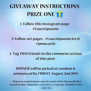 Giveaway Instructions Prize 1 - Laura Spoonie