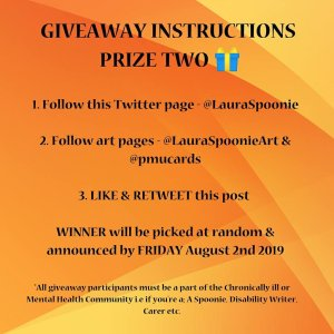 Giveaway Instructions Prize 2 - Laura Spoonie