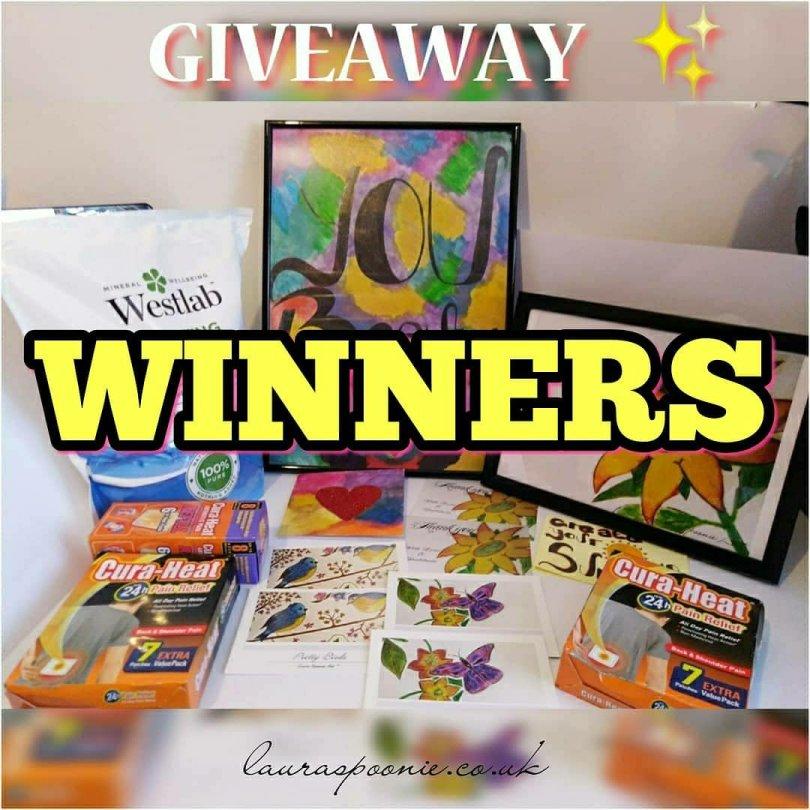 GIVEAWAY WINNERS - Laura Spoonie